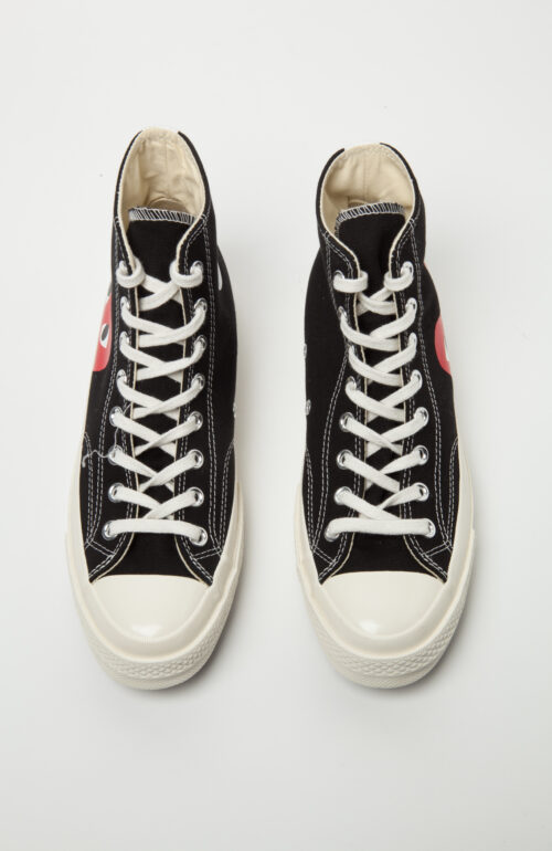 Comme des Garcons play converse schwarz herz high top chuck