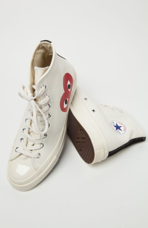 Comme des Garcons Converse Play Converse weiß high top