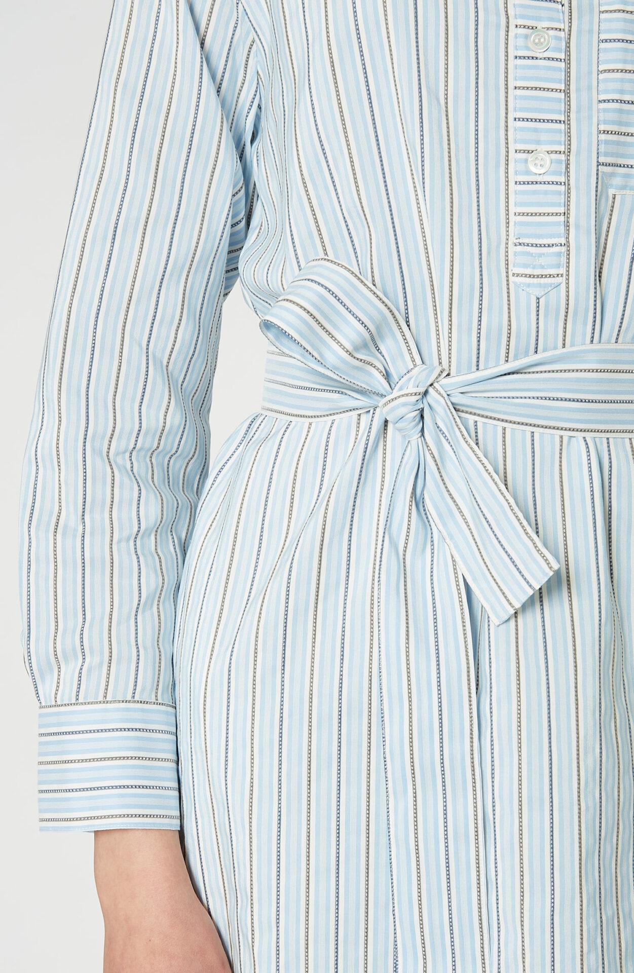 """A.P.C. Blaues Kleid """"Cyrielle"""" mit Streifen - Schwittenberg"""
