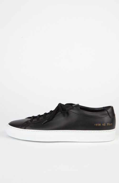 Common Projects Sneaker Achilles 1658 Low Schwarz Weiße Sohle