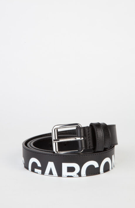 Comme des Garcons Wallet Gürtel schwarz huge logo
