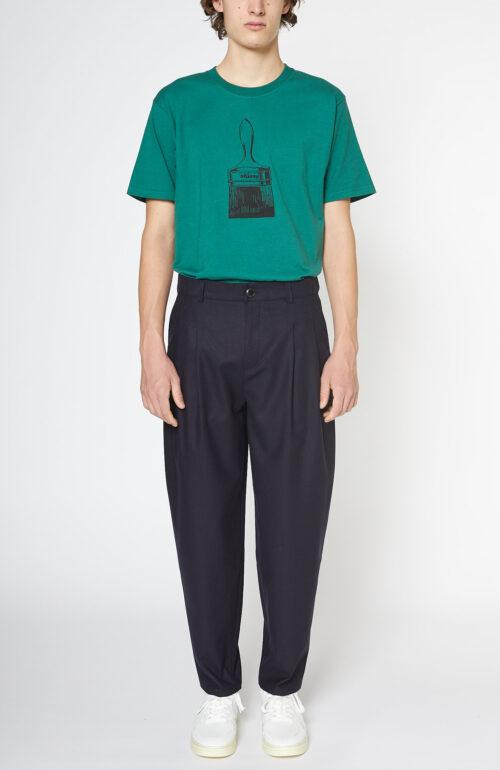 A Kind of Guise Pleated wide trouser hose dunkelblau