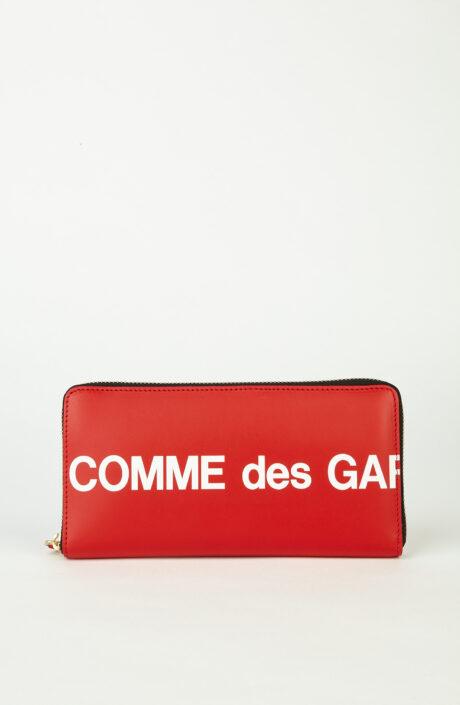 Comme des Garçons Wallet SA0110 Huge Logo Rot