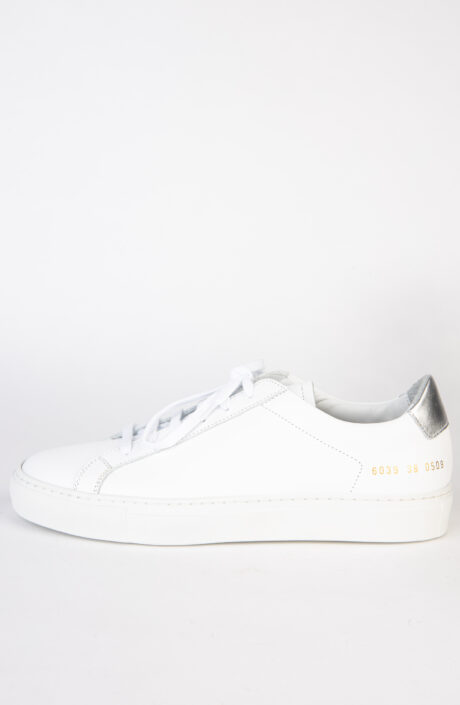 Common Projects Sneaker Retro Low White Silver
