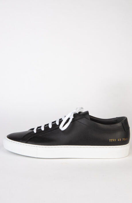 Common Projects Sneaker Achilles 2253 Low Schwarz Weiße Sohle