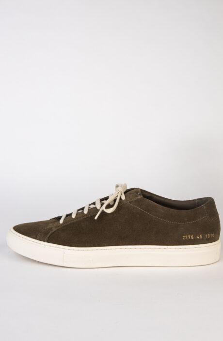 Common Projects Sneaker Original Achilles Low Olive Wildleder
