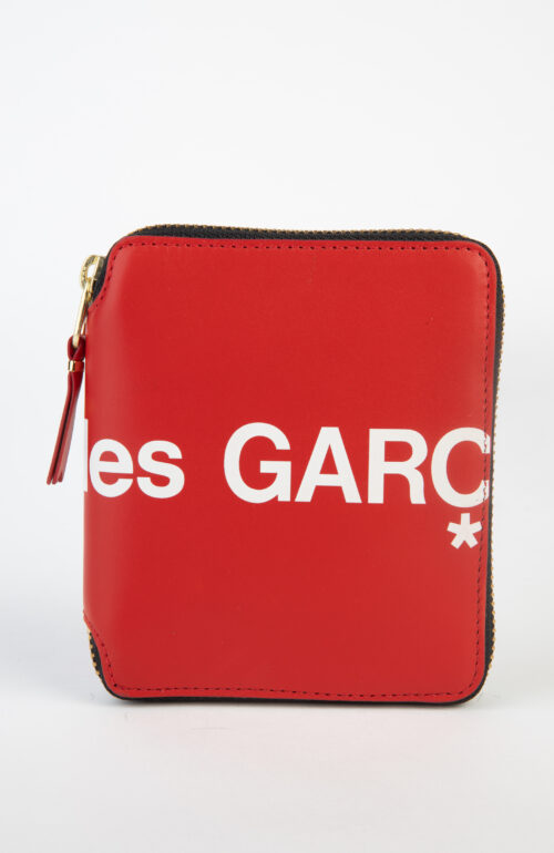 Commes des Garçons Wallet SA2100 Huge Logo Rot