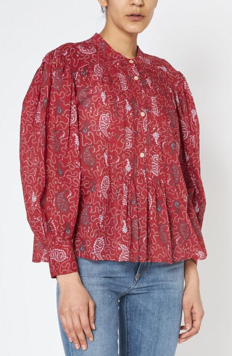 "Rote Bluse ""Plalia"" mit Paisley-Print"