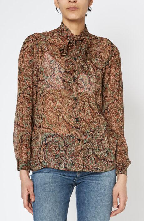 Alessia Shirt green rust