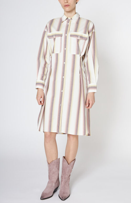 "Gestreiftes Kleid ""Jady"" aus Baumwolle"