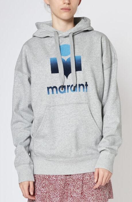 """Grauer Hoodie-Sweater """"Mansel"""" mit Logo"""