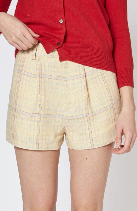 """Gelb karierte Shorts """"Ilabot"""""""