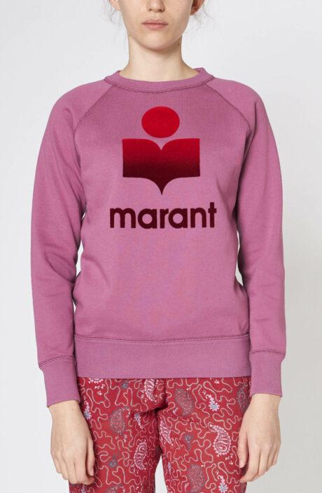 Pinkfarbener Logo-Sweater Milly pink