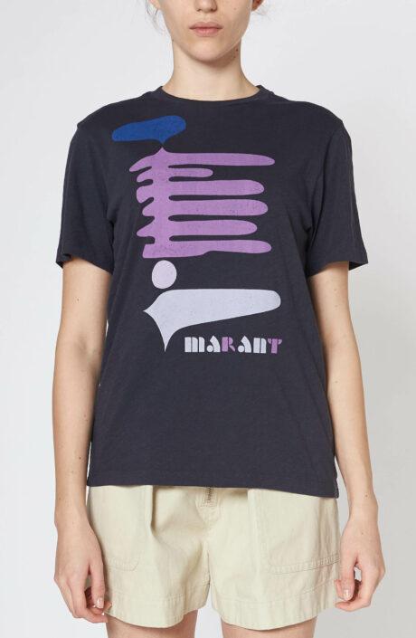 "Schwarzes T-Shirt ""Zewel"" mit Print"