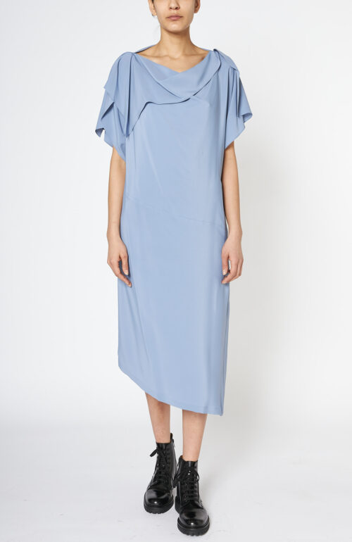 Diagonal Dress horizon blue