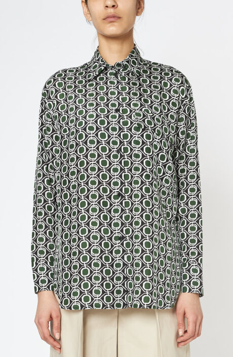 Hemd Tessa green mosaic