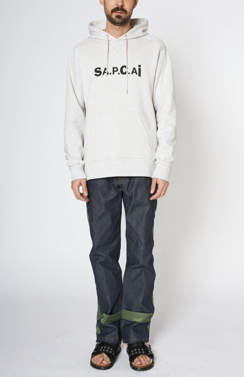 Apc sacai Taiyo Kapuzen sweater grau