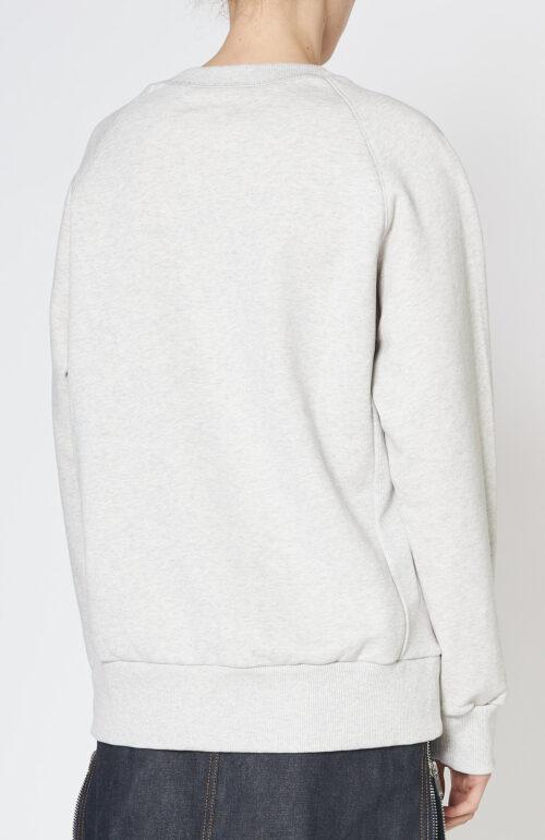 """Hellgrauer Sweater """"Tani"""" mit Lgoprint"""