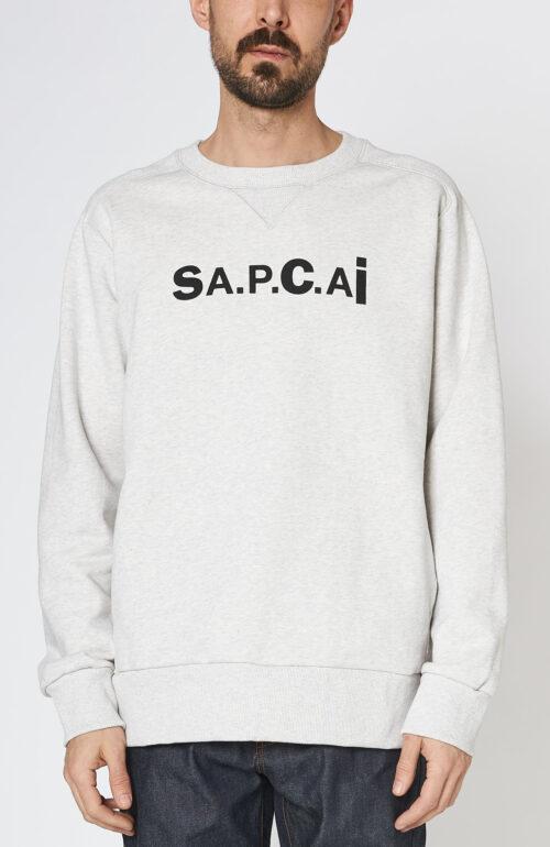Apc sacai sweater tani hellgrau