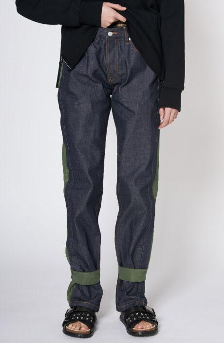 Apc sacai haru jeans dunkelblau grün