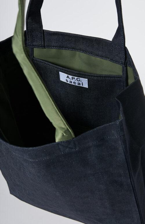 "Apc sacai dunkelblau Tasche ""Holly"" in khaki jeans"