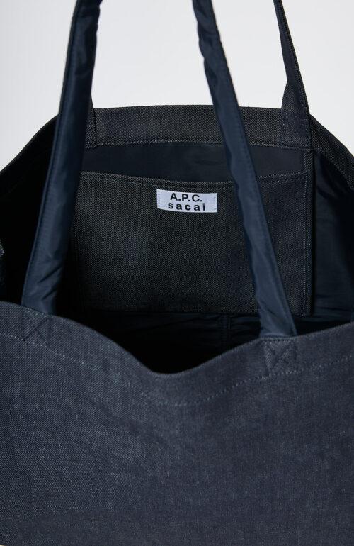 "Apc sacai Dunkelblaue Shopping-Tasche ""Candy"" mit dunkelblauen Nylon Details"