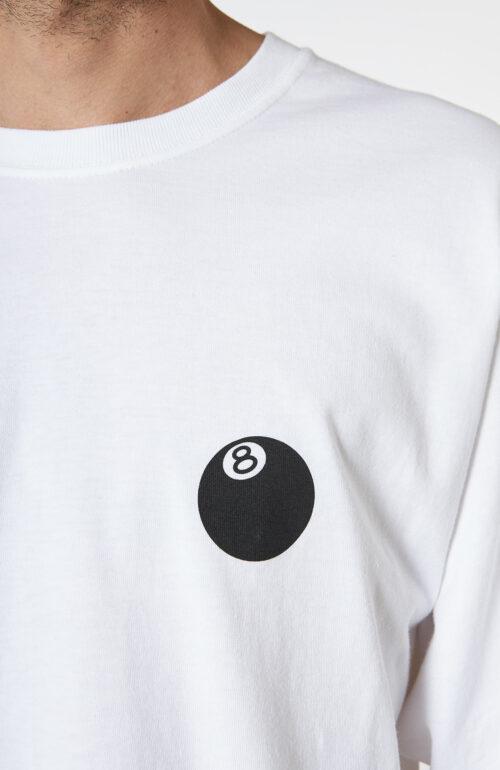 """Weißes T-Shirt """"8Ball Corp"""" mit langem Arm"""
