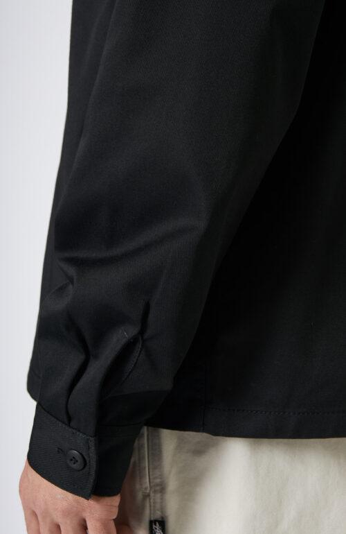 """Schwarzes """"Work-Shirt"""" mit Reißverschluss"""