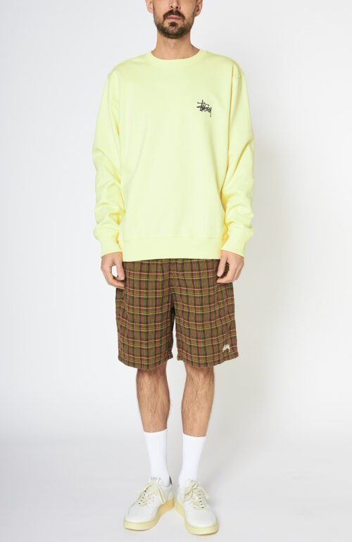 "Gelbes Logo-Sweatshirt ""Stussy Crew"""