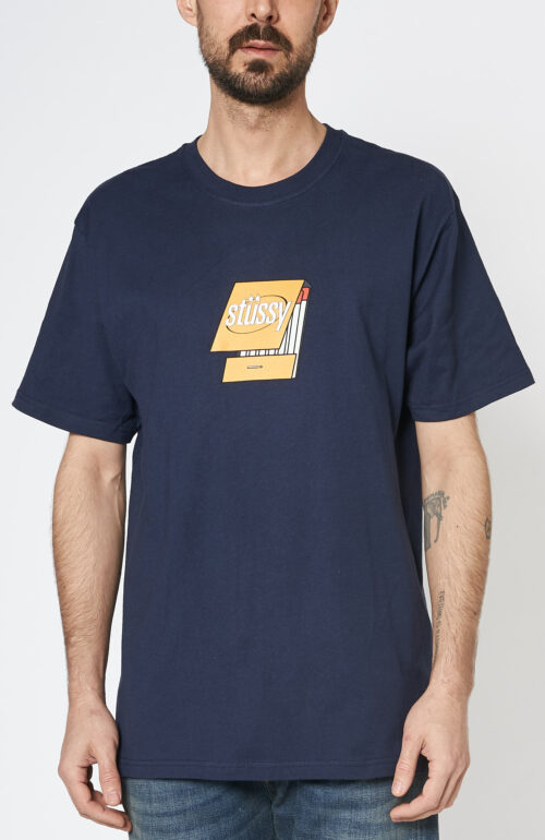 "Dunkelblaues T-Shirt ""Matchbook"""
