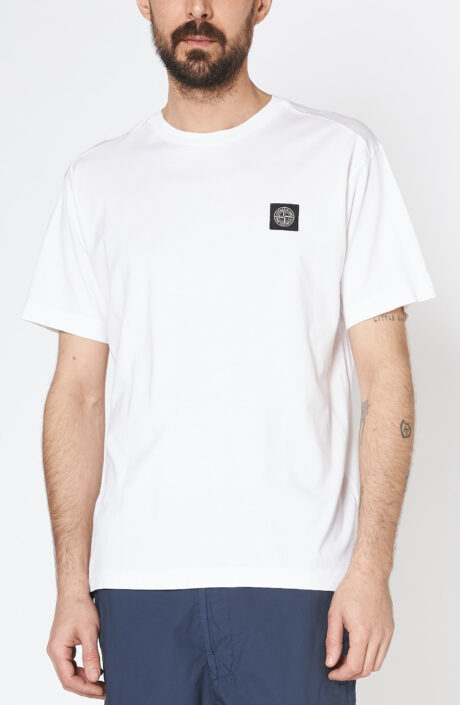 """Weißes T-Shirt """"24113"""" mit Rundhalsausschnitt"""