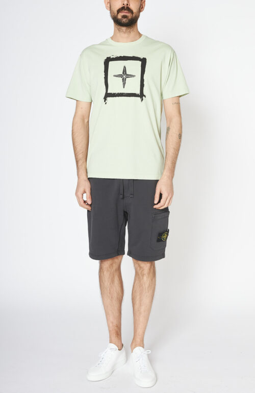 "Hellgrünes T-Shirt ""2NS81 Stencil two"""