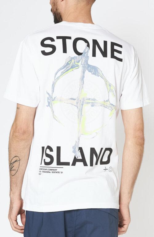 "Weißes T-Shirt 2NS85 ""Marble three"""