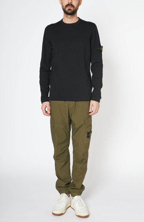 Khakifarbene Hose 31303 mit elastischem Bund