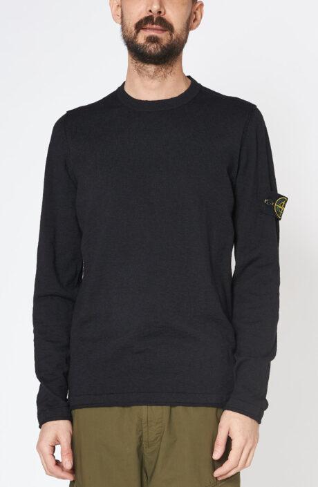 """Schwarzer Pullover """"502b0"""" aus Baumwolle"""