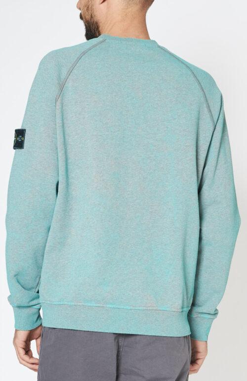 "Aquagrüner Sweater ""62290"" mit Dust Colour Effekt"