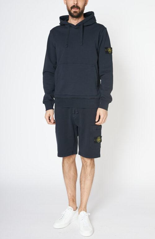 """Dunkelblauer Kapuzensweater """"64151"""" mit Logo-Patch am linken Arm"""