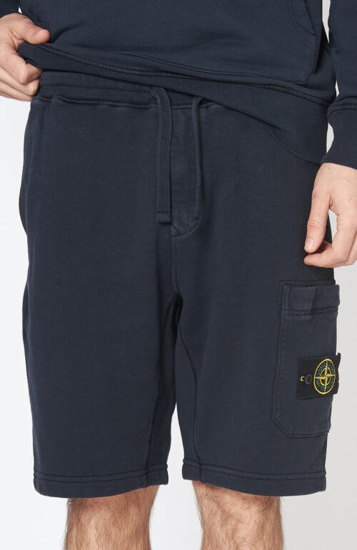 "Dunkelblaue Shorts ""64651"" aus Baumwollsweatstoff"