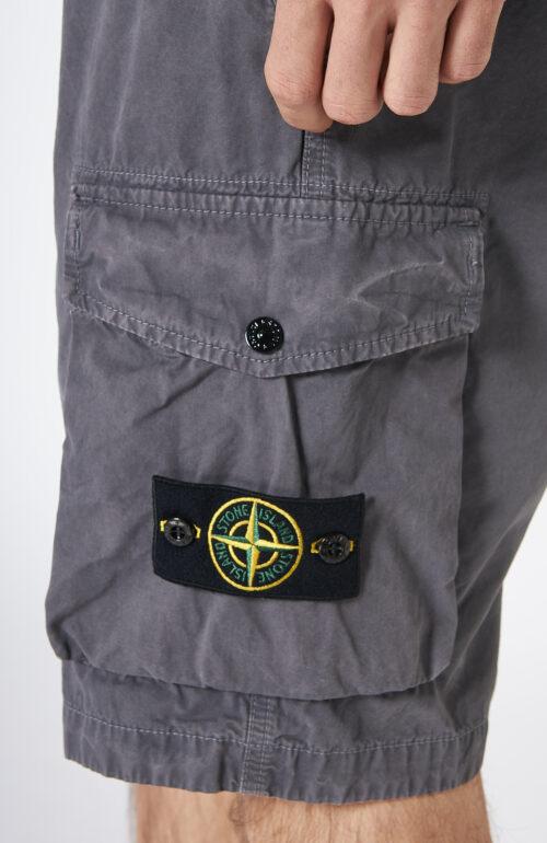"""Graue Cargo Bermuda Shorts """"L07WA"""" mit aufgesetzten Taschen"""
