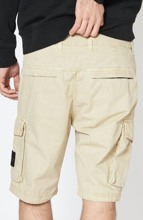 """Beige-farbene Cargo Bermuda Shorts """"L07WA"""" mit aufgesetzten Taschen"""
