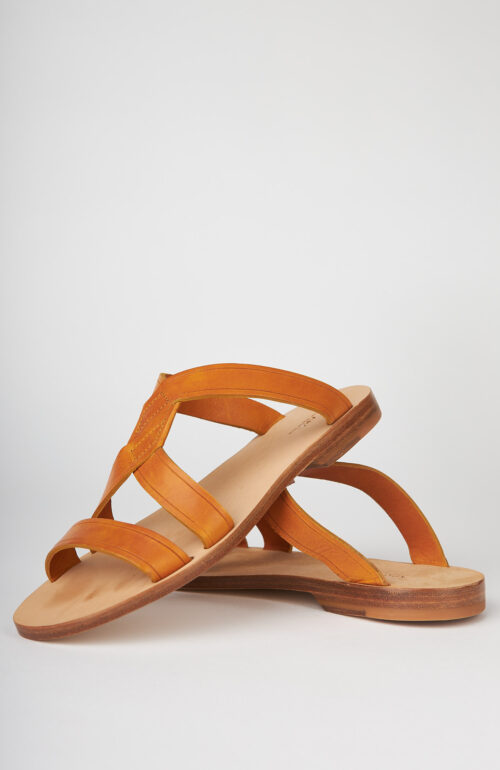 "Ockerbraune Slip-on Sandale ""Yael"""