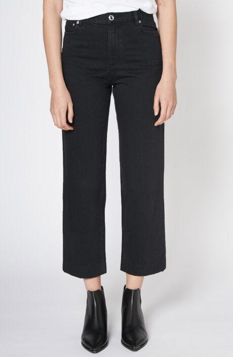"""Schwarze High-Waist-Jeans """"New Sailor"""""""