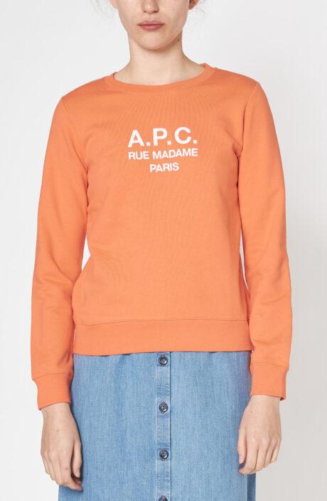 """Orangefarbener Sweater """"Tina"""" mit Logo"""