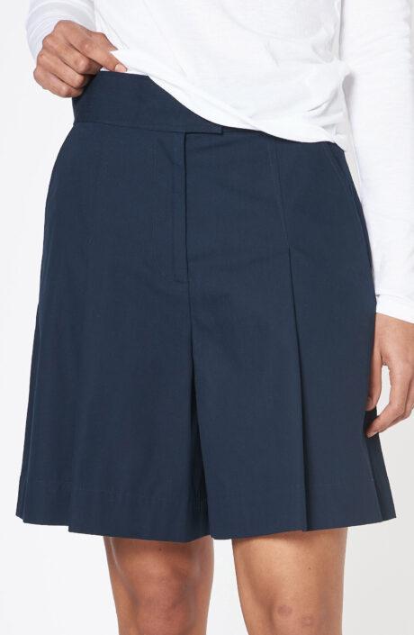 """Dunkelblaue Shorts """"Diane"""" mit hohem Bund"""