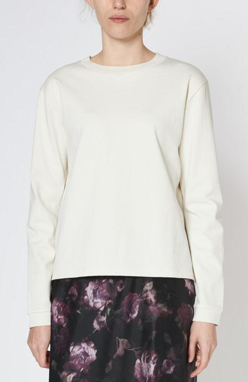 Cremeweißer Sweater aus Baumwoll-Mix