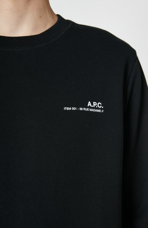 "Schwarzer Sweater ""Item"" mit Logo Print"