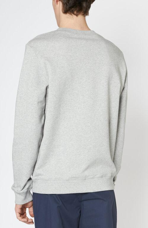 "Grauer Sweater ""Item"" mit Logo Print"