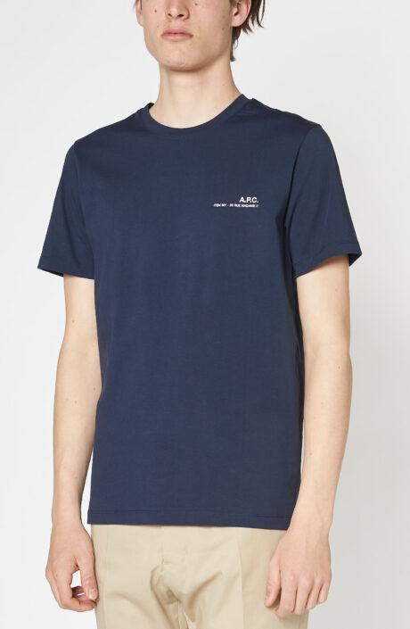 "Dunkelblaues T-Shirt ""Item"" mit Logo Print"