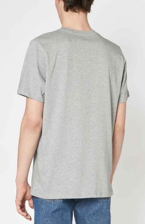 "Graues T-Shirt ""Item"" mit Logo Print"