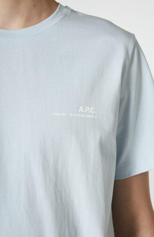 "Hellblaues T-Shirt ""Item"" mit Logo Print"